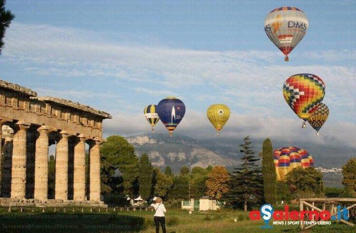 Paestum, grande attesa per il Festival Internazionale delle Mongolfiere