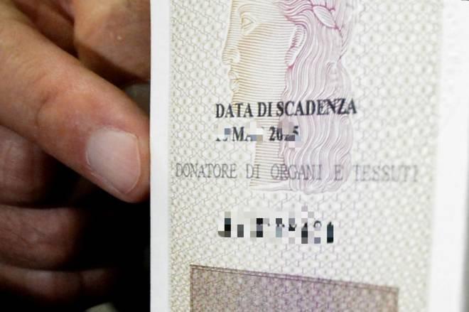 Carta d'identità, via libera per donare gli organi