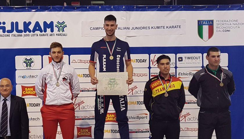 Romano Fiore del Moffa Team è vicecampione d'Italia di Karate