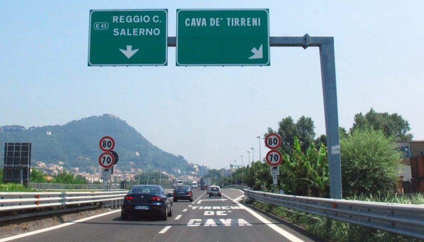Autostrada A3 NA/SA: chiuso stanotte e nelle notti del 4 e del 5 dicembre il tratto Cava de' Tirreni – Salerno, verso Salerno