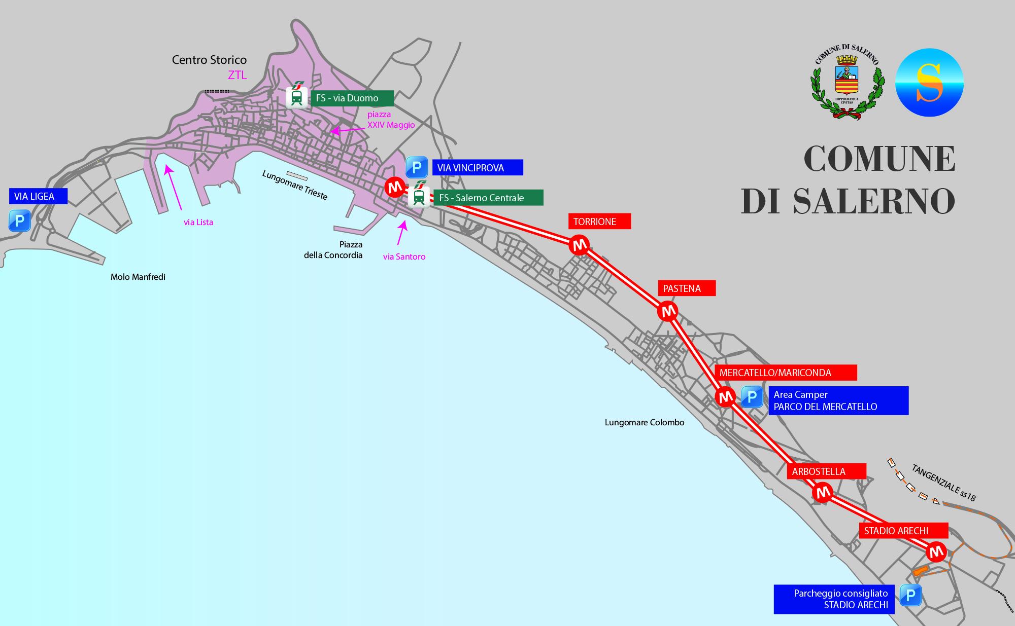 Cartina Italia Salerno.Cartina Il Giornale Di Salerno It
