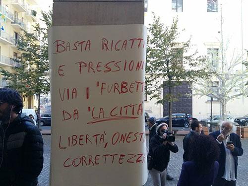 """Sciopero dei giornalisti de La Città: """"La nostra dignità non è in vendita"""""""