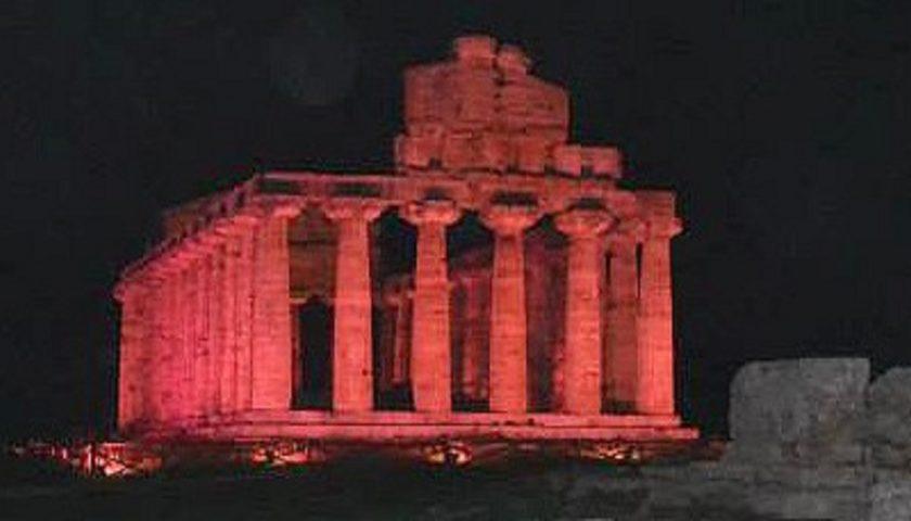 Il tempio di Cerere si tinge di rosa fino al 30 ottobre