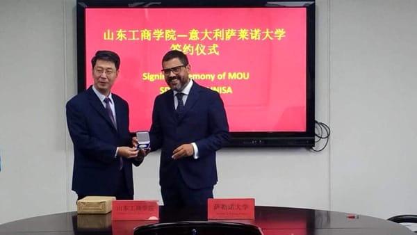 Tommasetti a Pechino per l'accordo tra Unisa e l'Ateneo di Shandong