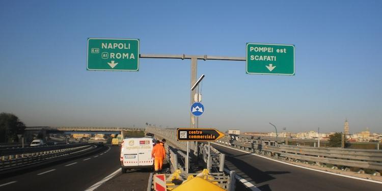 A3 NAPOLI-POMPEI-SALERNO: CHIUSO PER UNA NOTTE IL TRATTO POMPEI EST SCAFATI-ANGRI SUD