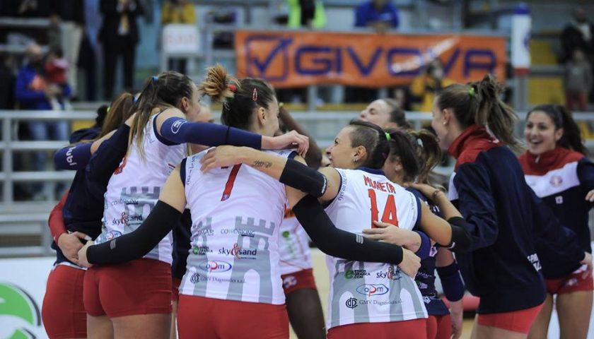 La P2P Baronissi dice addio alla serie A2 femminile, ceduto il titolo al Volley Vallefoglia