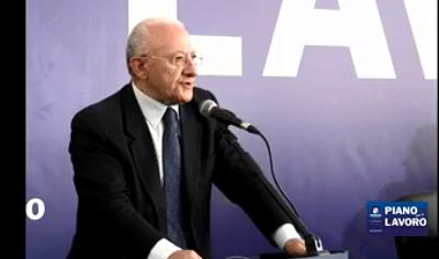 De Luca convoca i presidenti del Sud per il piano lavoro