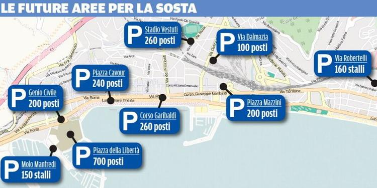 Piano parcheggi, previsti oltre 2mila posti a Salerno