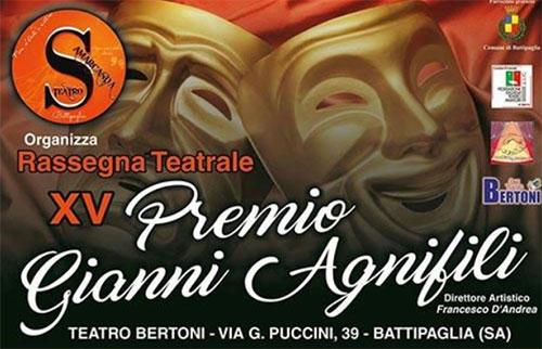 Battipaglia: al via la 15° edizione del premio teatrale 'Gianni Agnifili'