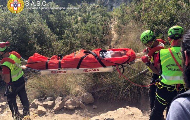 Escursionista ferita suSentiero degli Dei, nuovo soccorso in elicottero