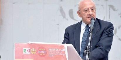 L'appello del governatore De Luca al Pd: «Serve l'operazione verità su noi stessi»