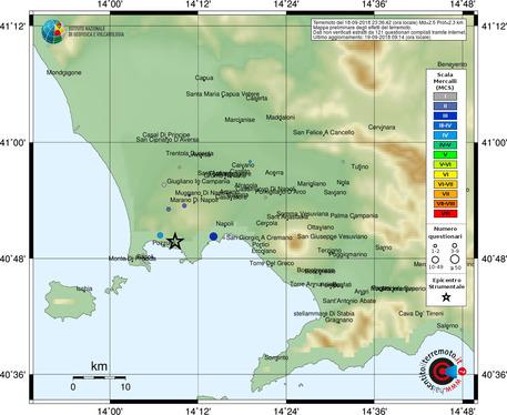Terremoto: due scosse nell'area flegrea