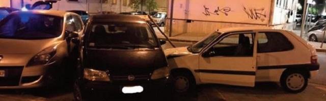 Salerno, ubriaco travolge le auto in via Martiri Ungheresi