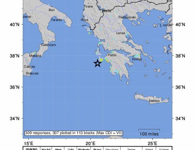 Terremoto di magnitudo 6.8 al largo della Grecia, epicentro a Zante, allerta tsunami