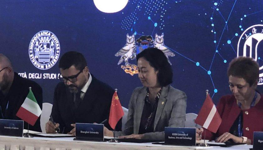 Sottoscritto accordo di collaborazione e scambio tra l'Università degli Studi di Salerno e la Shanghai University