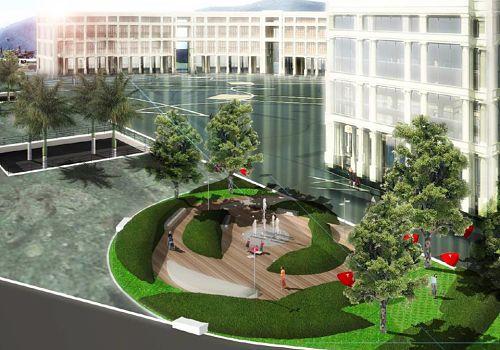 Piazza Libertà: giardini e giostre al posto delle torri entro il 2021