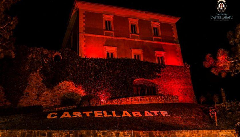 Il maniero di Castellabate s'illumina di rosso per la giornata mondiale contro la pena di morte