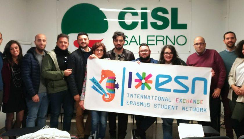 Importante sinergia tra la Cisl Giovani di Salerno e la ESN Salerno per lo sviluppo della città