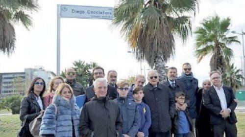 Salerno, una strada per Diego Cacciatore