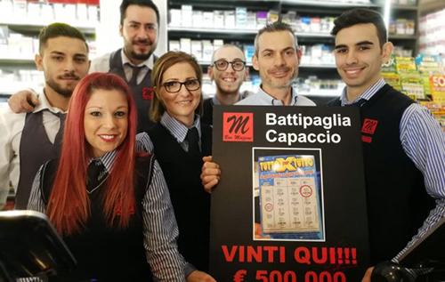 """Battipaglia: compra al bar un """"gratta e vinci"""" da 5 euro e se ne porta a casa 500000!"""