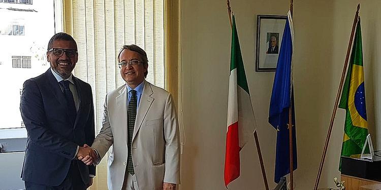 Il Rettore Tommasetti incontra il Console Generale Italiano a Rio de Janeiro