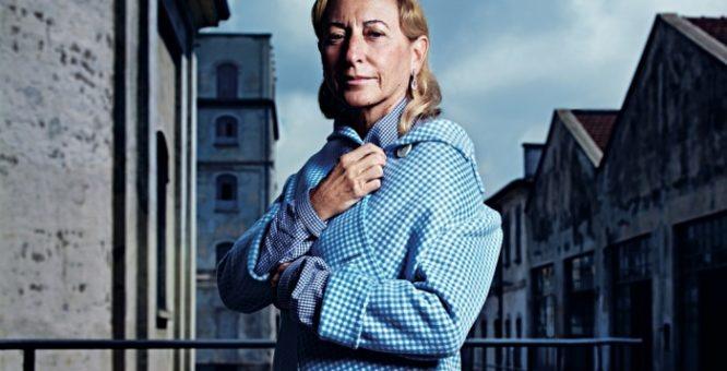 """Miuccia Prada """"pioniera della moda"""" il 10 dicembre premiata dal British Fashion Council a Londra"""