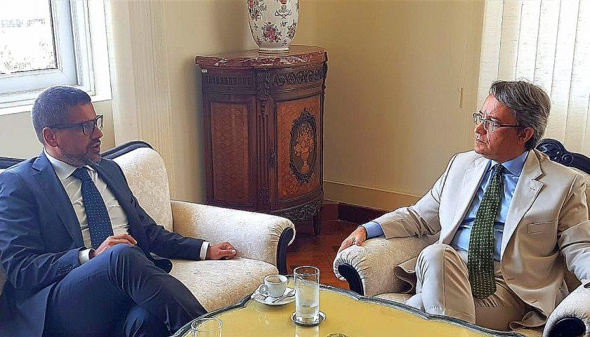 Unisa in Brasile, il Rettore Tommasetti incontra il Console Generale Italiano a Rio de Janeiro