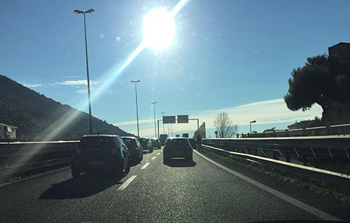Salerno: ancora un tamponamento in tangenziale, traffico in tilt