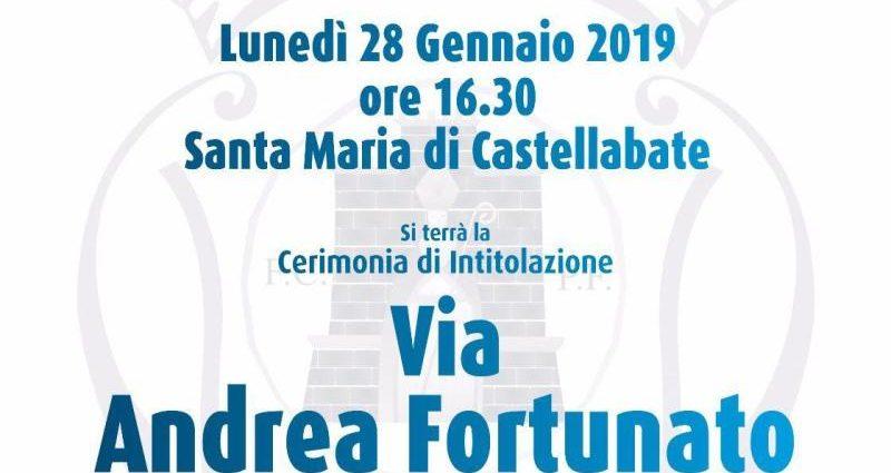Via Andrea Fortunato a Castellabate: alla cerimonia anche la Salernitana