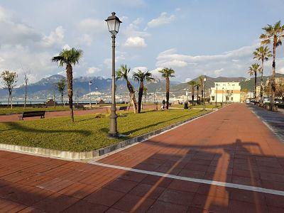 Salerno: completata la riqualificazione giardini su Lungomare Marconi