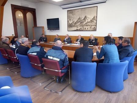Comitato provinciale per l'ordine e la sicurezza pubblica in Prefettura: furti in aumento nella Valle dell'Irno