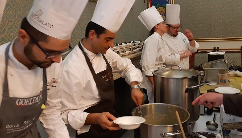 Show cooking a Palazzo S. Agostino con l'Olio Colline Salernitane Dop