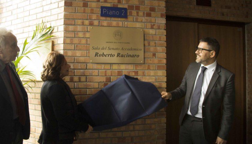 Università di Salerno: intitolata al prof. Roberto Racinaro la Sala del Senato Accademico