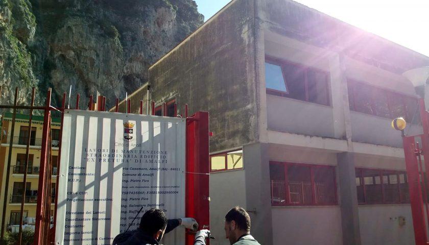 Amalfi, al via i lavori all'ex Pretura: nasce un centro di aggregazione sociale con micronido e un'area socio educativa per disabili