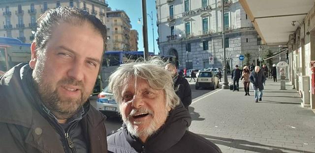 Blitz a Salerno del presidente della Sampdoria Massimo Ferrero