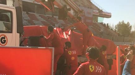 Formula1 Test Montmelò, Vettel a muro: fuori pista con la Ferrari