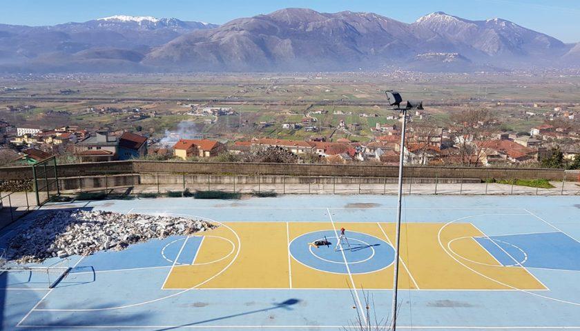 Sala Consilina, iniziati i lavori di copertura dell'impianto sportivo polivalente in località Cappuccini