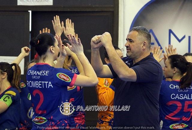 La Jomi Salerno batte l'Oderzo nelle prove generali delle finali Scudetto