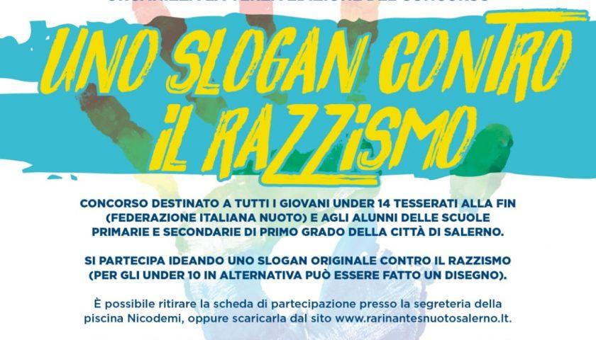 """""""Uno slogan contro il razzismo"""", iniziativa della Rari Nantes Salerno"""