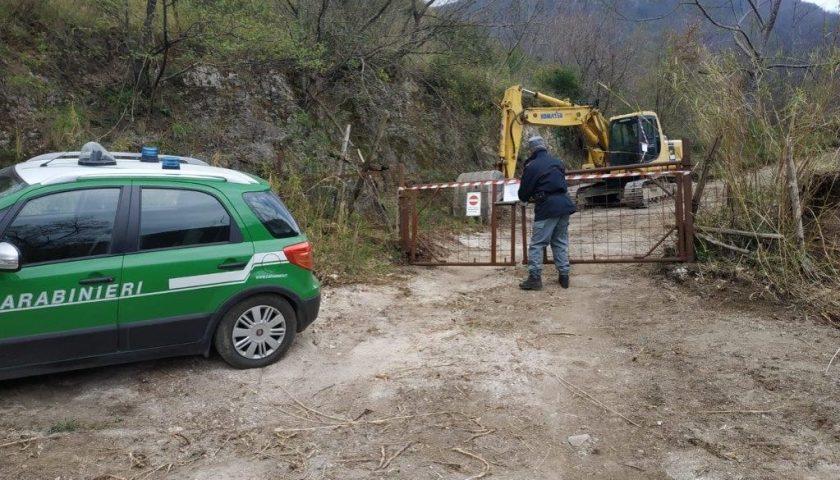 Baronissi: individuata e sequestrata in località Pastanelle area soggetta a sbancamento non autorizzato