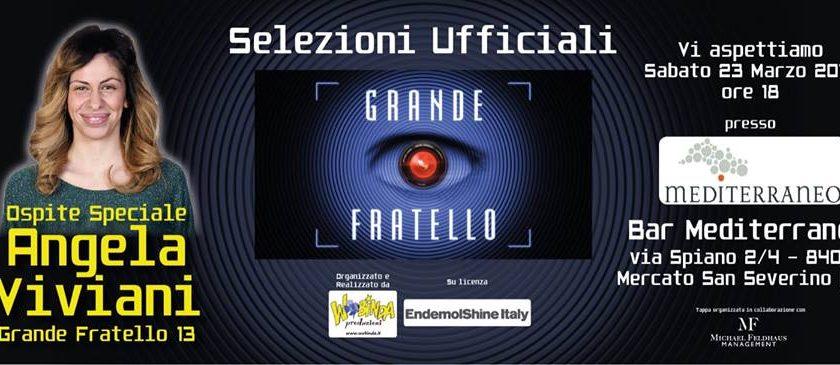 """Mercato San Severino: sabato il casting per il """"Grande Fratello"""" presso il Bar Mediterraneo"""