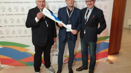 Universiade, presentata mascotte e fiaccola olimpica al convegno Ussi-Aips