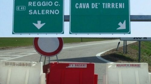 A3 NAPOLI-POMPEI-SALERNO: CHIUSURA NOTTURNA DEL TRATTO CAVA DE' TIRRENI-SALERNO