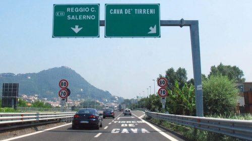 A3 NAPOLI-POMPEI-SALERNO: CHIUSO STANOTTE IL TRATTO CAVA DE' TIRRENI-SALERNO