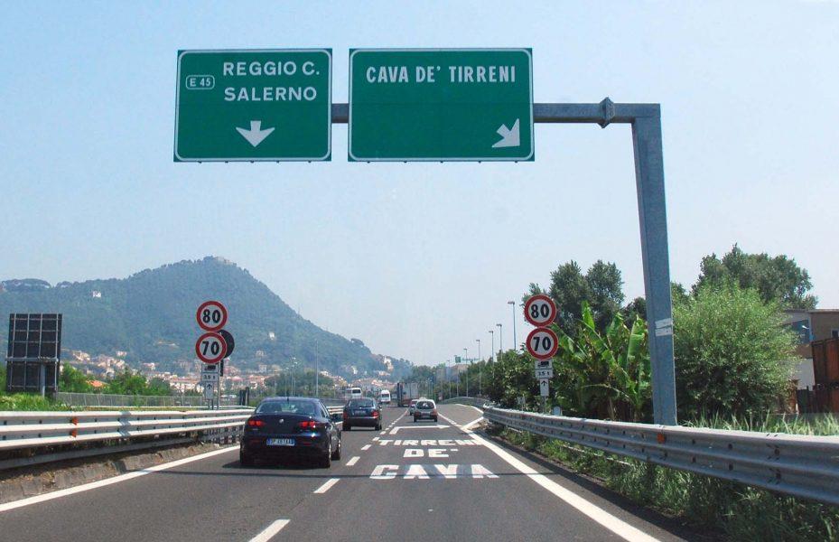 A3 Napoli-Pompei-Salerno, da questa sera a domani mattina chiuso il tratto Cava De' Tirreni-Salerno