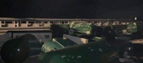 Padula: autocarro pieno di bomboloni di gas si ribalta sull'A2