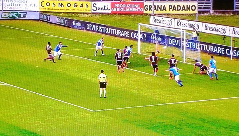 La Salernitana crolla al Rigamonti, ora il match ball con il Carpi