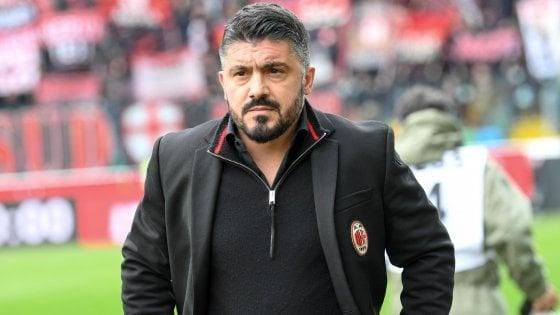 """Milan, lascia il tecnico Gattuso: """"Decisione sofferta, ma ponderata"""""""