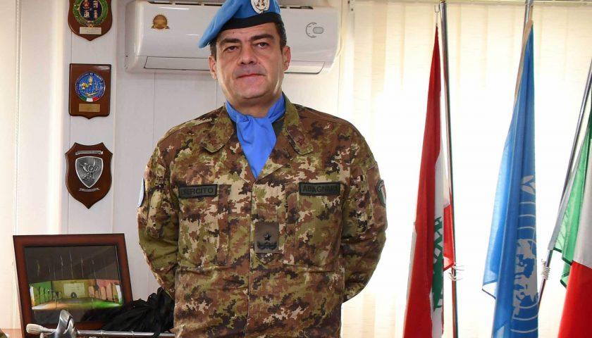 """Libano: al Generale Diodato Abagnara la medaglia """"Animo Grato"""""""