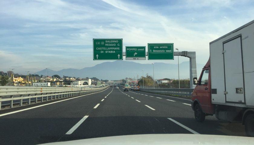 Autostrada A3: dal 2 al 13 maggio chiuso lo svincolo esterno di Castellammare di Stabia